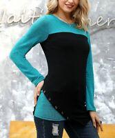 ✔ Women Tunic Reborn Black Buttons Size M