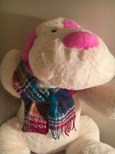 Burberry 75% Lambswool 25% Angora Pink Blue White Plaid Fringe Muffler Scarf(#6)