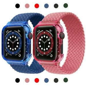 For iWatch Series SE 6 5 4 3 2 1 Elastic Nylon Apple Watch Band Strap 44mm 40mm