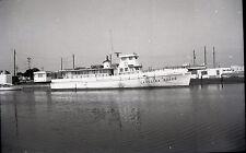 'Carolina Queen' Ferry - Vintage B&W Boat Negative