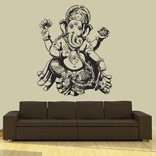 Wall Decal Vinyl Sticker  Elephant Ganesh Buddha Lotus Om God r669