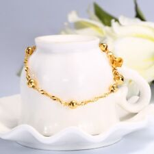 Fashion 24K Plated Gold Color Twisted Chain Bracelet for Ladies Gifts Bells