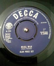 "Alan Price Set  Hi-Lili, Hi-Lo Vinyl 7"" Single UK Decca F 12442 1966"