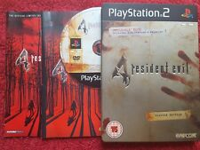 RESIDENT EVIL 4 LIMITED EDITION STEEL BOOK CASE SONY PLAYSTATION 2 PS2 PAL