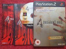 Resident Evil 4 Edición Limitada Libro de Acero caso Sony Playstation 2 PS2 PAL