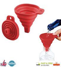 Embudo Silicona Plegable Plegable Resistente Al Calor Accesorio de Cocina herramienta de hazlo tú mismo UK
