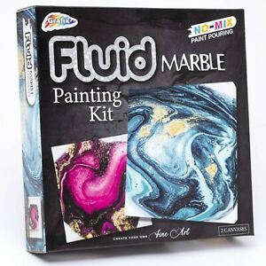 Marbling Painting Kit Starter Set Fluid Marble Art Water Pigment Creative Craft