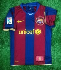 BARCELONA 2007/2008 HOME FOOTBALL SOCCER SHIRT JERSEY BOYS NIKE SIZE M
