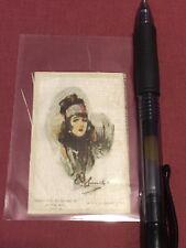 1910 Beauties Modern Paintings Silk Tobacco Card