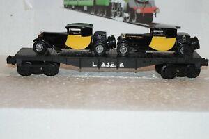 O Scale Trains Lionel LASER Flat Car w/two 1928 Bugatti's