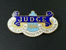 More details for scarce 1906 judge enamel pin badge trades markets exhibitions