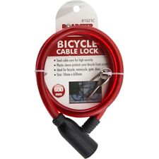 Steel spiral cable bicycle bike lock 2 keys cycle chain PVC non scrachable
