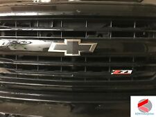 14-15 Silverado Chevy Emblem Overlay Decal CARBON BLACK Front & Rear | PRECUT