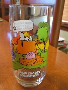 Vintage 1968 Schulz McDonald's Camp Snoopy Glass Snoopy Charlie Brown Lucy