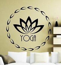 Yoga Wall Decal Fitness Sports Vinyl Sticker Art Decoration Home Mural (32yo)