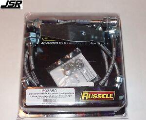 94-95 Mustang SVT Cobra Russell Stainless Steel Brake Lines (2 Front & 3 Rear)