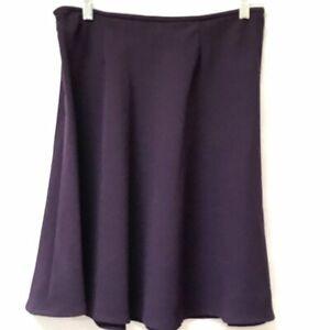 Talbots Tulip Skirt Midi Eggplant Aubergine 8p Size 8 Petite Purple