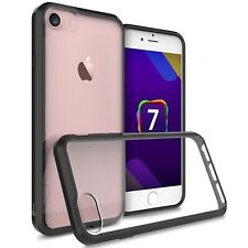 Hybrid Slim Fit Hard Back Cover Phone Case for Apple iPhone 7 Black / Clear