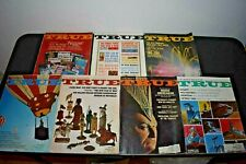 TRUE THE MAN'S MAGAZINE LOT OF 7 (1965)  GREAT ADS & ARTICLES (UFO STORY)