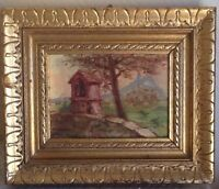 Tableau Ancien Paysage Post-Impressionniste Provence La Garde Var Huile signée