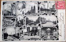 Montreal, Quebec, Canada 1906 Postcard: Ten Views - McGill/Jacques Cartier Place
