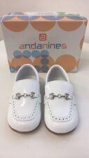 Andanines Girls White Patent Shoes 161801- Kids Size 5 UK (EU 22)  - RRP £42