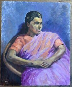 Marika Eversfield (1914-2014) - 20th Century Oil, Seated Indian Lady