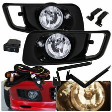 1999-2000 HONDA CIVIC EK DRIVING CLEAR FRONT JDM BUMPER FOG LIGHTS LAMPS PAIR