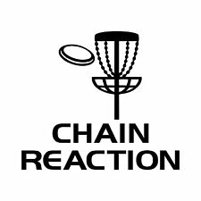 Disc Golf Vinyl Sticker Decal Chain Reaction