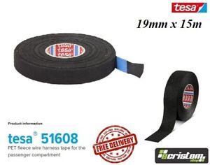 TESA 19mm x 15m TAPE PET FLEECE ADHESIVE CLOTH FABRIC WIRING LOOM HARNESS
