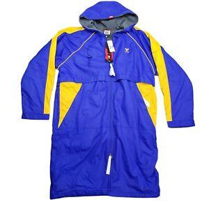 NWT TYR Alliance Team Podium Swim Parka Royal and Gold Aquatics Jacket Large