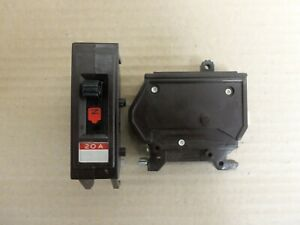 WADSWORTH Type A A20NI 1 Pole 20 Amps 120/240V A120 Metal Clip Circuit Breaker