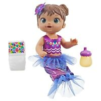 "Baby Alive Shimmer N Splash Mermaid 14"" Doll Toy with Accessories - Hasbro E3691"