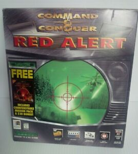 Command & Conquer Red Alert for Windows 95 PC - Big Box (Includes Counterstrike)