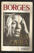 Jorge Luis Borges Book La Cifra 1981 Ed EMECE