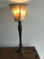 VINTAGE ART DECO TABLE LAMP WITH UNIQUE SILK SHADE