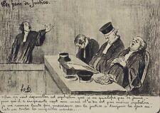 Honore Daumier France 1808 -1879 Lithograph Les gens de justice Oui