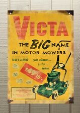 Victa Motor Mower Petrol Oil Metal Tin A3 420x297 Man Cave Sign