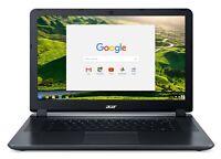 Acer Chromebook 15 Intel  Celeron 1.6 GHz 4 GB Ram 32GB Flash Chrome OS
