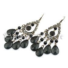 NEU! Orient Stil Fashion Ohrringe Ohrstecker Schwarz Bronze Ohrhänger Perlen
