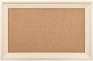 HBlife Cork Board Bulletin Board 11 x 17 Inch with Rectangle Frame Decorative Ha