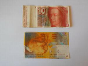 Suisse 2 billets de 10 FRS