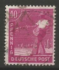 "Stamps-Germany-Soviet Zona. 1948. 40pf ""Schwerin"" Michel: 177 VIII Geprüft"