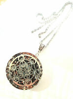 necklace Orgone pendant Cube of Metatron Black Tourmaline, Shungite.Reiki Chakra