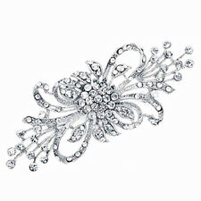 Vintage Style Bridal Wedding Bouquet Shiny Diamante Brooch Pin BR226