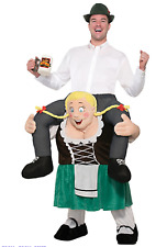 Oktoberfest Beer Maiden - German Lederhosen Adult Mascot Costume
