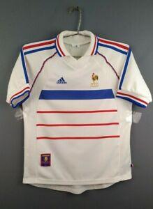 France soccer size XS / S 1998 2000 away shirt football Adidas ig93