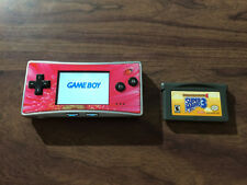 Game Boy Micro System Bundle + Super Mario Advance 4 -- Tested -- NO charger
