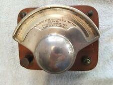 Antique 19th C 1885 Thomson Voltmeter #2371 General Electric Co Wood case Clean