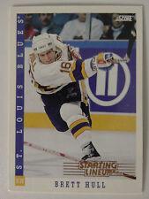 1993 Score Starting Lineup Brett Hull St. Louis Blues Kenner Hockey Card